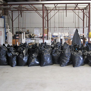 Bags of clothes