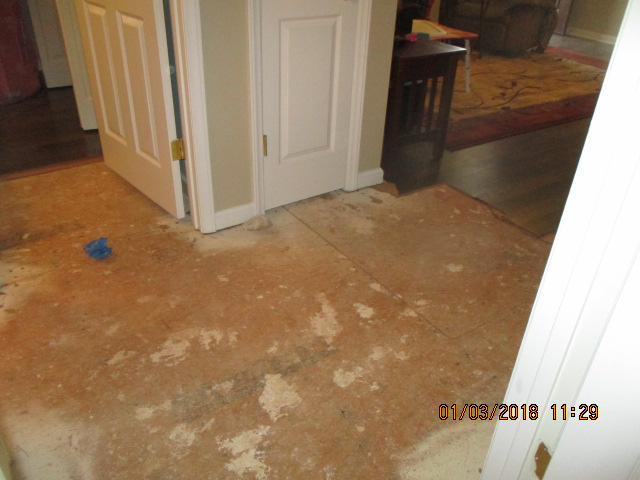 Before - Subfloor with Water Damage