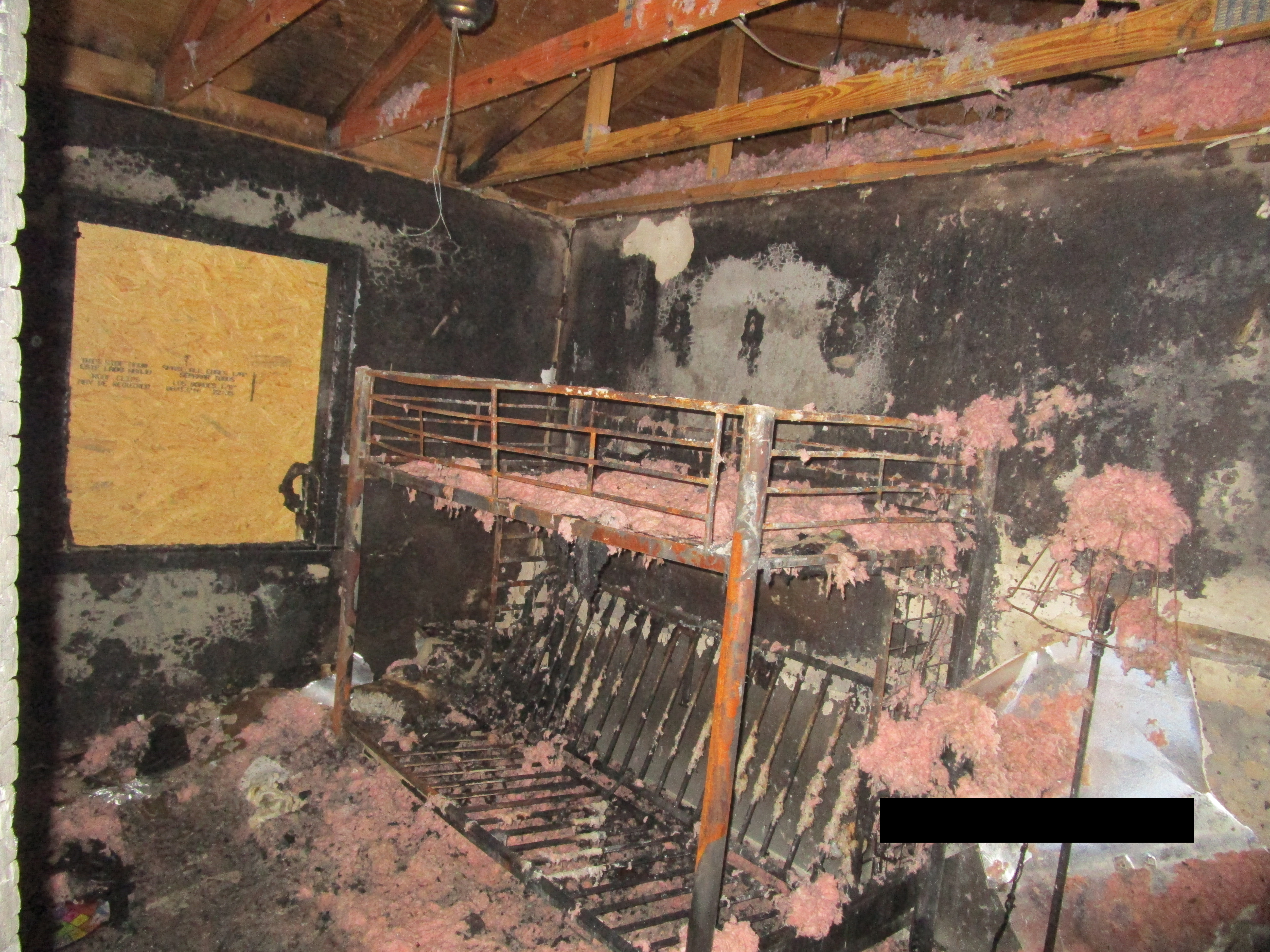 Before Fire & Smoke Damage Restoration in Shelby NC - Bedroom