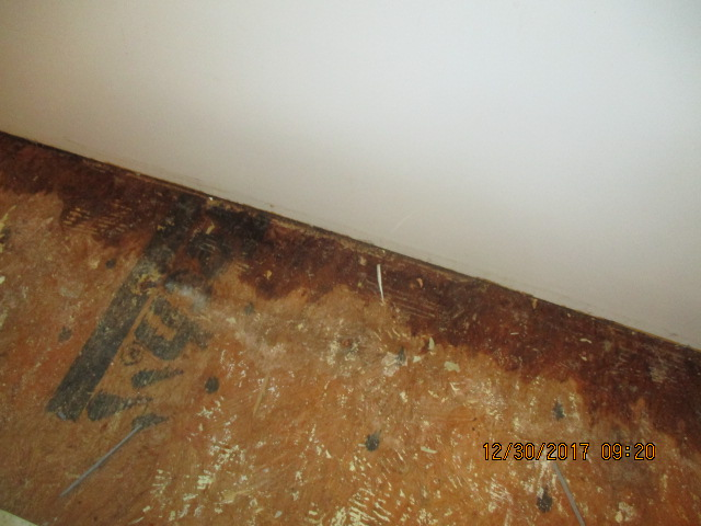 Before - Water In Bathroom Subfloor