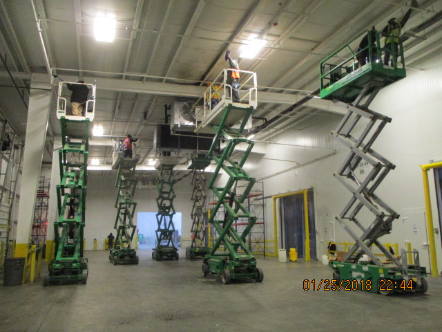 Using Scissor Lifts to Reach Damaged Areas