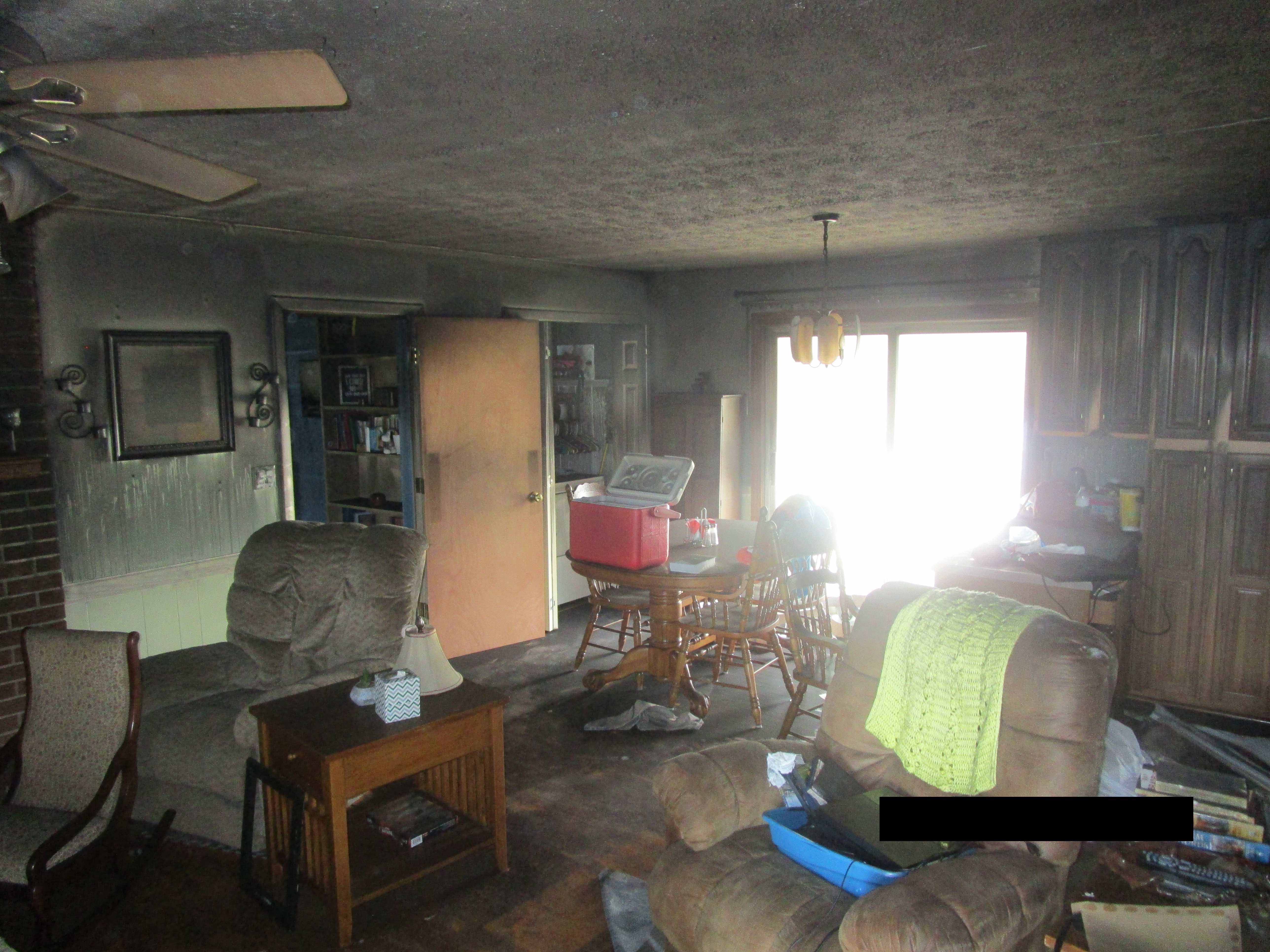 Before Fire & Smoke Damage Restoration in Shelby NC - Dining Room