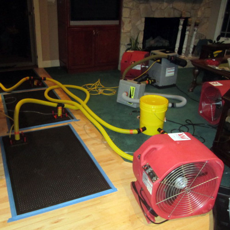 Cleanup after water damage to home